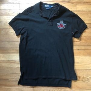 Polo By Ralph Lauren Black Crested Polo M